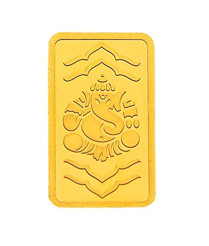 Kundan 20 gm, 24k(999.9) Yellow Gold Ganeshji Precious Coin