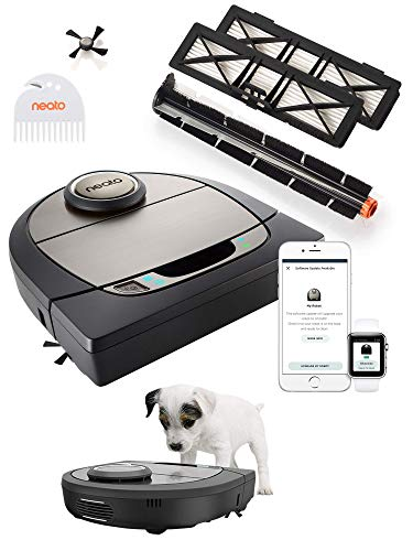 Neato Robotics D750 Premium Pet Edition - Compatibile con Alexa - Robot aspirapolvere con stazione...