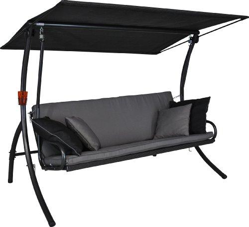 Angerer Elegance Style Hollywoodschaukel Style, Grau, 3-Sitzer