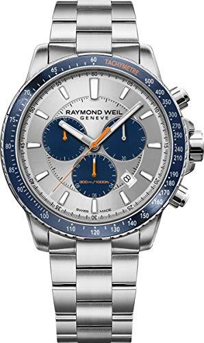 Raymond Weil orologio al quarzo, argento, 43mm, cronografo, 8570-st3-65501