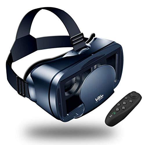 Gafas VR de Realidad Virtual,3D VR Gafas con Remoto Controlador, para Juegos Visión Panorámico Immersivo para iPhon X/7/ 7plus /6s 6/Plus, Galaxy s8/ s7 con Pantalla de 5,0 a 7,0 Pulgadas