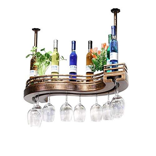 LXDDP Scaffale da Cucina in Metallo Appeso a Parete con ripiano per Vino, portacandele e Calice in...