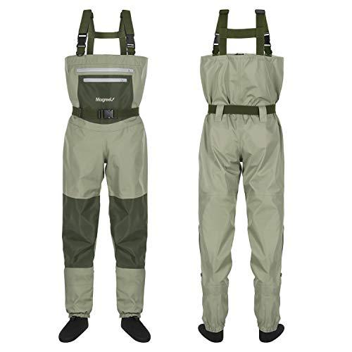 Magreel Trampolieri da Pesca con Calze Impermeabili per la Pesca Caccia Trampolieri Traspiranti Vestiti Pantaloni per Pescatore Uomo Donna, Materiale Sicuro Durevole Comodo Alta qualità (Taglia S)