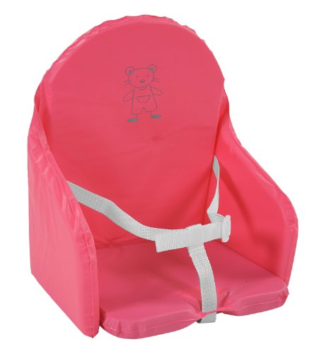 Cuscino da seggiolone per bebè, con cinghie, colore: Lampone