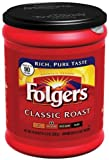 FOLGERS CLASSIC ROAST MEDIUM GROUND COFFEE 1 x 320g TUB AMERICAN IMPORT