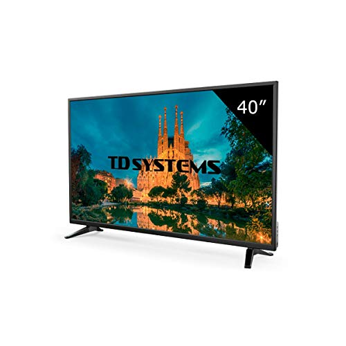 TD Systems K40DLM7F - Televisore Led 40 Pollici Full HD. Risoluzione 1920 x 1080, 3x HDMI, VGA, USB...