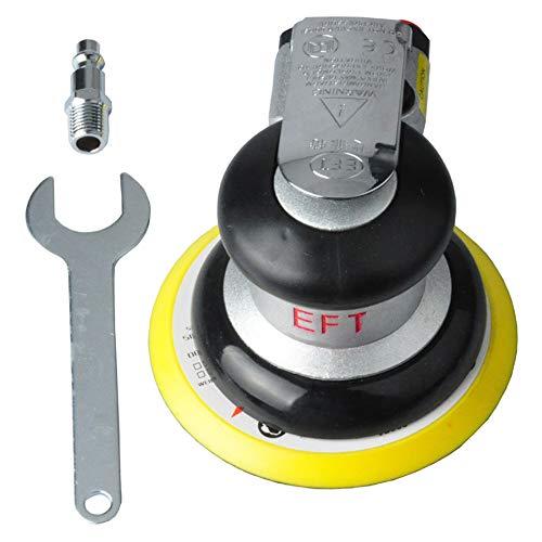 Festnight 5 inch Air Random Orbital Sander Kit Pneumatic Random Orbit Palm Sanders Low Vibration Polisher Tools Non-Vacuum