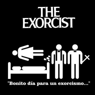 DibuNaif Camiseta Hombre - Unisex película El Exorcista, William Friedkin 7
