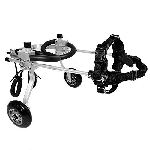 Ryan Sedia A Rotelle per Cani, Riabilitazione delle Gambe Posteriori Animali Disabili Cat Scooter Arto del Veicolo Allenamento Assistito Passeggino Regolabile (M) (Dimensioni : M-2 (40-45cm))