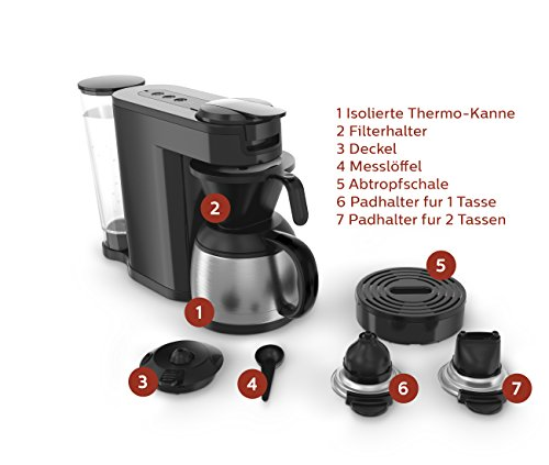 senseo hd7892 60 switch 2 in 1 kaffeemaschine f r filter schwarz haushalt. Black Bedroom Furniture Sets. Home Design Ideas
