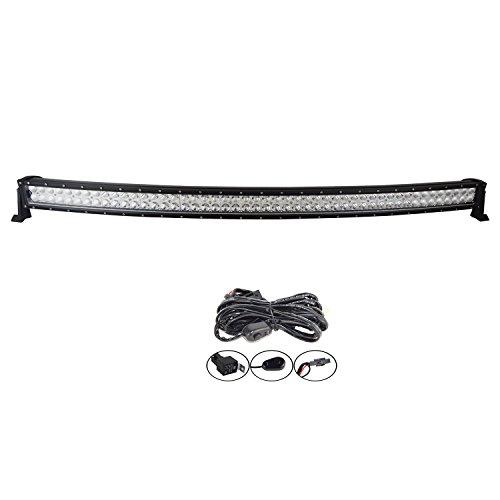 Auxtings barra luci led ricurva, 132cm 300W, ideale per 4x4, camion, offroad, barche, ecc.