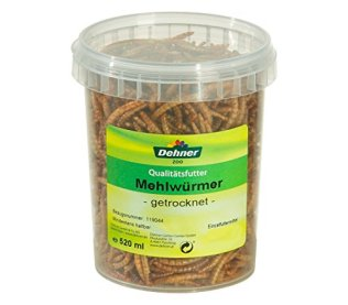 Dehner-Vogel-Nager-Fischfuttersnack-getrocknete-Mehlwrmer-520-ml