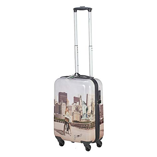 TROLLEY YNOT YES LUGGAGE CABIN SIZE SPINNER J-1001 NEW YORK