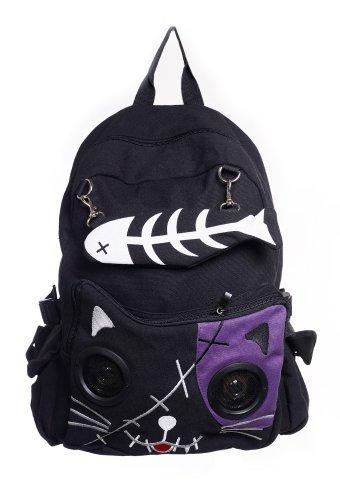 Gebannt Kitty Lautsprecher-Rucksack - Black/Purple / One Size