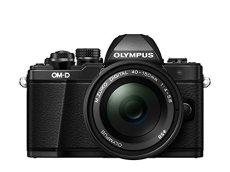 "Olympus OM-D E-M10- Cámara EVIL de 16.1 Mp (pantalla 3"", estabilizador óptico, vídeo Full HD, WiFi), negro - kit con objetivo M Zuiko Pancake 14-42mm EZ y zoom 40-150R"