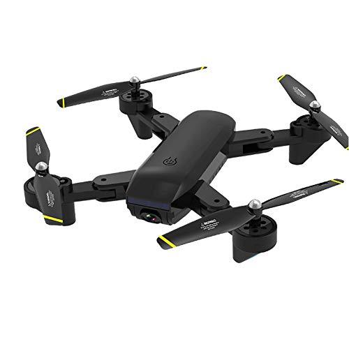 YFQH Droni telecomandati,Flusso di Luce Pieghevole Drone seguendo Aereo ultraveloce a telecamere quadricottero 4K ad altissima Definizione - Nero,1080P