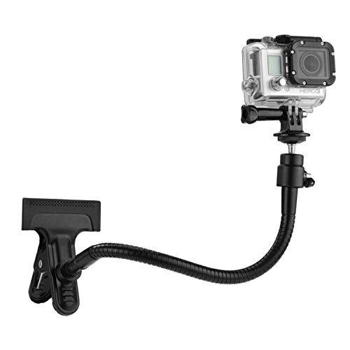 Camkix Montatura a Morsetto, compatibile con GoPro Hero / DJI Osmo Action - Montatura a Morsetto a Doppia Funzione per GoPro Hero Fusion, 6, 5, 4, 3+, 3, 2, 1 con Giunto Sferico e Attacchi a Collo d'Oca da 10'