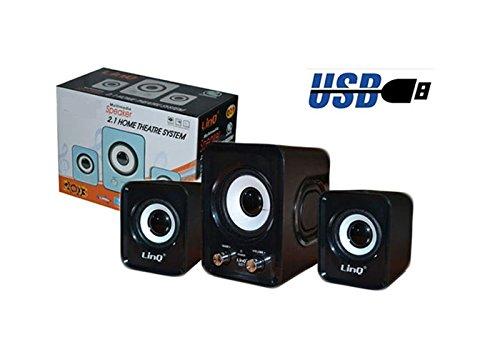 Casse Usb Speaker 2.1 Home Theatre System Linq Q21 Nero Vari Colori