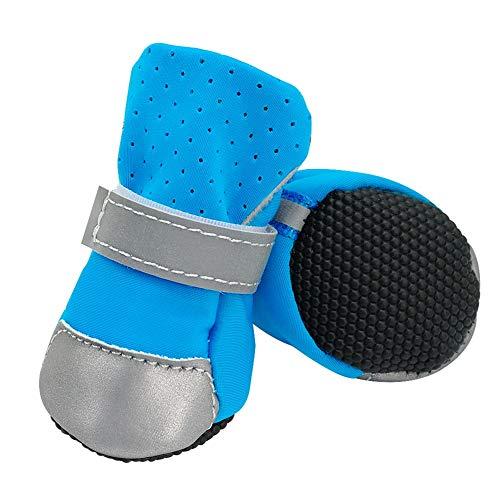 Feidaeu Zapatos para Mascotas Botas de algodón Zapatillas Antideslizantes para Lluvia para Proteger el pie en Perros pequeños y medianos