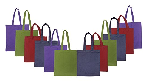 RYAN OVERSEAS Cotton Medium Bag (Multicolour) - Set of 12