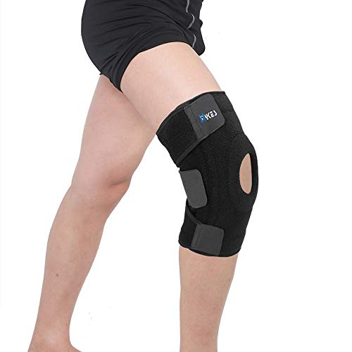 Hykes Knee Brace for Arthritis Pain Relief Ligament Injuries Sports Gym Open Patella Support fits Men and Women