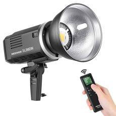Neewer LED Video Luz SLB60W Blanco 5600K Versión 60W CRI 93+ TLCI 95+ con Control Remoto y Reflector Iluminación Continua Montaje Bowens con Batería de Litio de 8700mAH para Video
