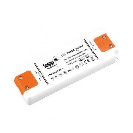 KingLed – Alimentatore LED Super Slim Snappy, Power Supply 50W 24V 2.8 Ampere, Tensione Costante...