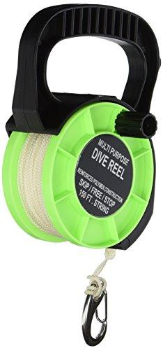 Scuba Choice Scuba Diving Multiuso Dive Reel, 150', Verde