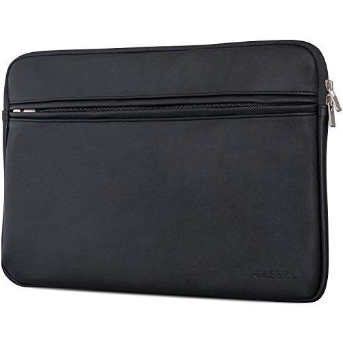 CASEZA Boston Custodia per MacBook Air 13 e Pro 13 in Pelle PU Nera - Borsa in Pelle Vegana per...