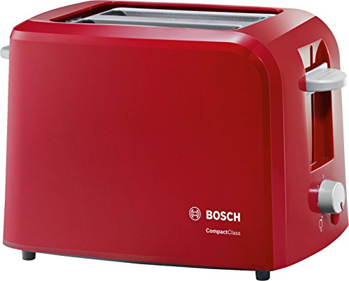 Bosch Compact Class TAT3A014 980-Watt 2-Slice Toaster (Red)
