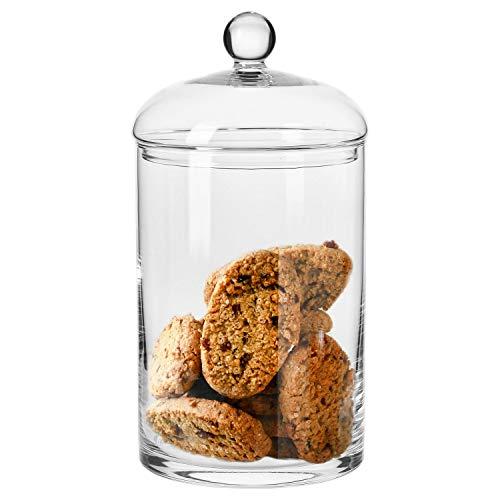 Krosno Grande Barattolo Biscotti Dolci Vetro con Coperchio | 2.7 Litri | Collezione Glamour | Ideale...