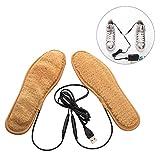 Semelles chauffantes USB électrique rechargeable thermique Semelles Cut-to-Fit chauffe-pieds Homme Femme Shoe-pad pour vélo randonnée Camping de chasse