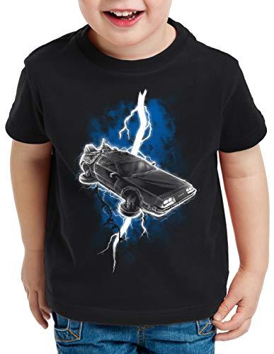 style3 Delorean Thunderstorm T-Shirt per Bambini e Ragazzi fulmini temporale Tempo, Dimensione:128