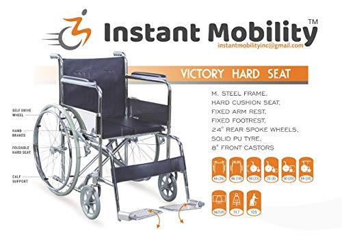 Instant Mobility Victory Hard Seat Standard Folding Wheelchair