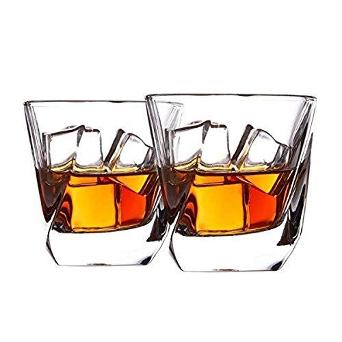 Cooko Bicchiere di whisky, Set di Vetro in Cristallo di Lusso, Priva di Piombo Chiarezza Glass, Set...
