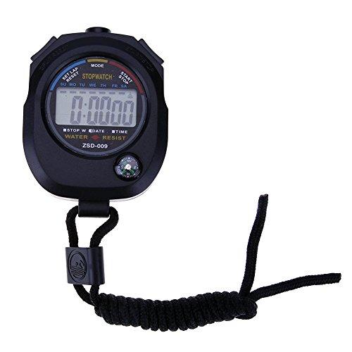 Broadroot elettronico cronometro cronografo digitale LCD timer cronometro per sport, Style B