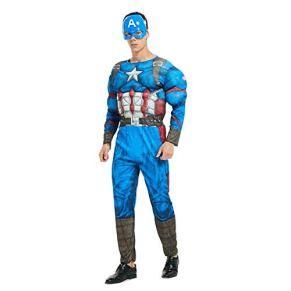 Hcxbb-b Fantasía, el músculo adulto Vengadores Spider-Man superhombre del capitán América Iron Man Optimus Prime ropa Cosplay Hulk (Color : Captainamerica, Size : OneSize)