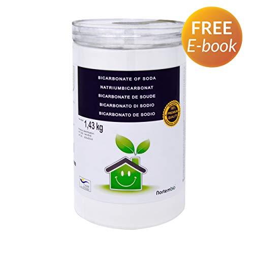 Nortembio Bicarbonato di Sodio 1,43 kg, Input per la Produzione Biologica, Senza Alluminio, qualità Premium, 100% Naturale. Sviluppato in Italia.