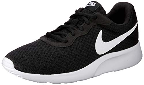 Nike Herren Tanjun Laufschuhe, Schwarz (011 Black/White), 43 EU