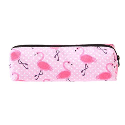NUOLUX astuccio fenicotteri rosa per trucco e per cancelleria per studenti custodia per matite,borsa...