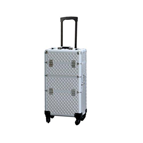 POLIRONESHOP INDRA valigia beauty case trolley per trucco make up estetista manicure estetica...
