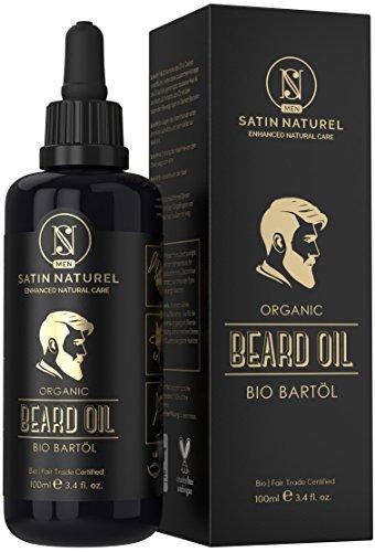Olio da barba biologico di qualità – Nutre la barba in profondità favorendo una crescita sana – Prodotto in Germania con ingredienti naturali