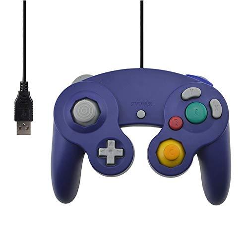 FidgetGear for Gamecube PC USB Wired Controller Joypad Joystick for Nintend Gamepads NGC GC MAC Computer Gamepad Purple