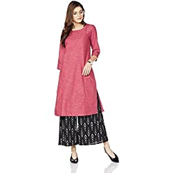 Myx Women's Workwear A-Line Kurta (AW17WRST4E_Pink_M)