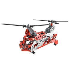 Meccano Helicopter 20 Model Set - juegos de construcción (Vehicle erector set, 8 año(s), 406 pieza(s), Negro, Rojo…