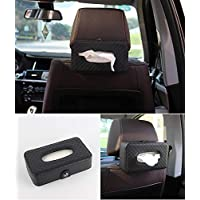 NIKAVI Portable Leather Rectangular Tissue Cover Box Holders Case Pumping Paper Car Hotel Home Gift