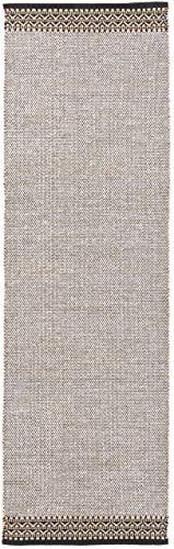 CarpetFine: Tappeto Die Lana Kilim Mia Passatoia 75x240 cm Beige - Monocromatico