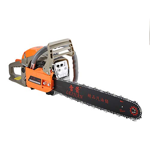 Ejoyous Cordless Gas Petrol/Gasoline Chain Saw Wood Cutting Grinding Machine Outdoor Power Tools with Tool Kit ; 2200 W