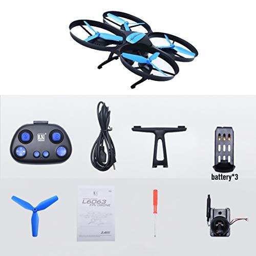 LouiseEvel215 Drone RC con 0.3MP WiFi Altitudine della Fotocamera Tenere premuto Un Tasto Ritorno modalità Senza Testa Velivoli per elicotteri Telecomando Giocattoli