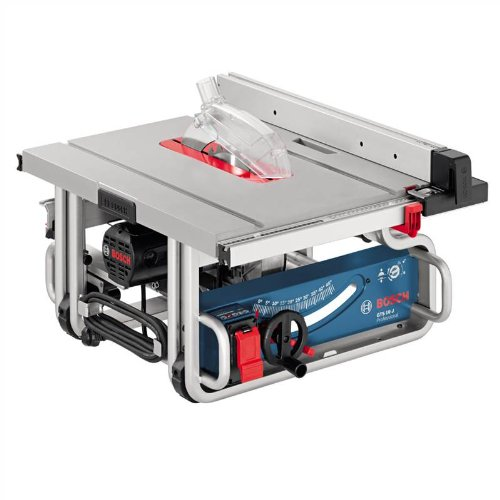 Bosch is one of the biggest names in the tools industry and their GTS 10 J Table Saw does not disappoint. It's the right mix of power and portability, with ample handholds ensuring transportation is a breeze. The self-adjusting parallel guides allow precise cuts up to 460mm to the right and 210mm to the left. In addition, the unit is easy to build with push stick stops making it easy to store as well. If you are looking for a portable saw that you can transport from site to site, this model is worth considering.